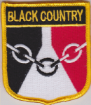 Black Country Embroidered Flag Patch, style 07.